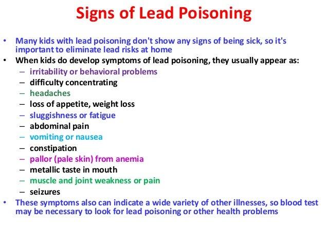Adult Lead Poisoning Symptoms