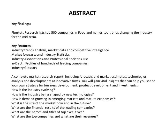 Food Industry Almanac 2016: Food Industry Market Research, Statistics, Trends & Leading Companies Slide 2