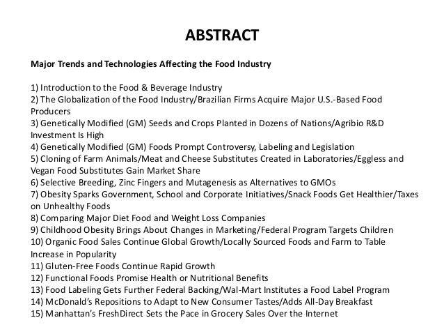 Food Industry Almanac 2016: Food Industry Market Research, Statistics, Trends & Leading Companies Slide 3