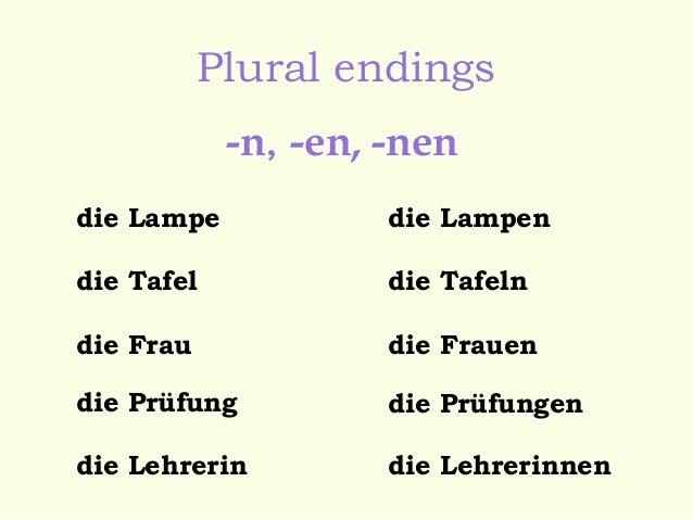 die lampe plural