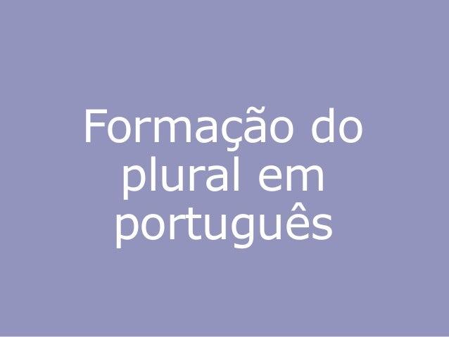 Formação do plural em português
