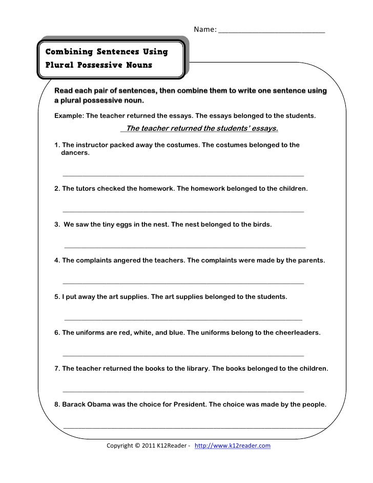 Singular and Plural Possessive Nouns Posters and Mini Posters | TpT