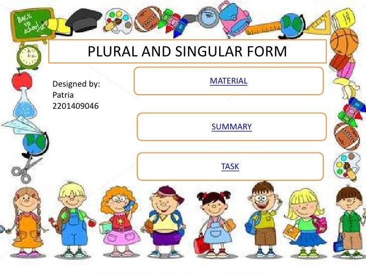 Plural and singular form