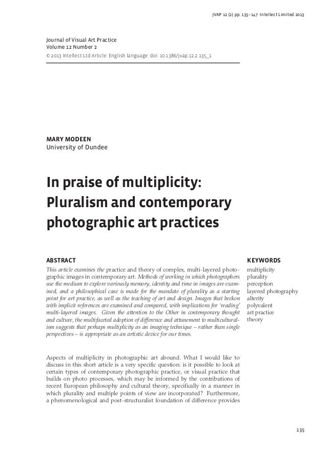 135 JVAP 12 (2) pp. 135–147 Intellect Limited 2013 Journal of Visual Art Practice Volume 12 Number 2 © 2013 Intellect Ltd ...