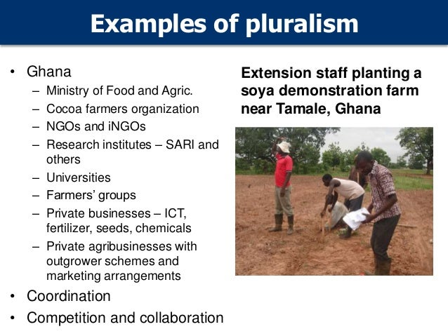 Pluralism In Agricultural Extension