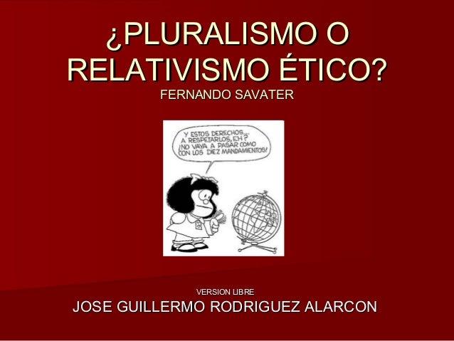 RELATIVISMO ETICO PDF