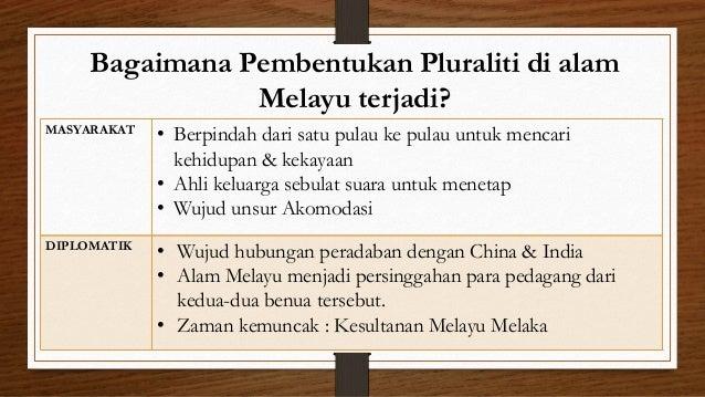Bagaimana Pembentukan Pluraliti di alam Melayu terjadi? MASYARAKAT • Berpindah dari satu pulau ke pulau untuk mencari kehi...
