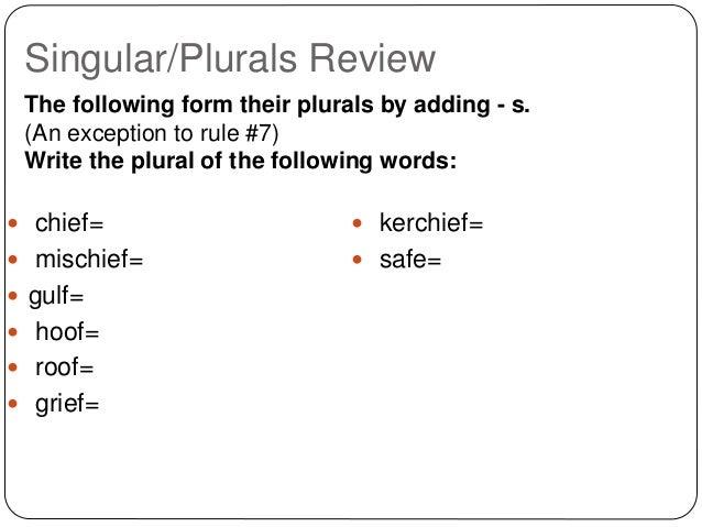 Plural nouns power point