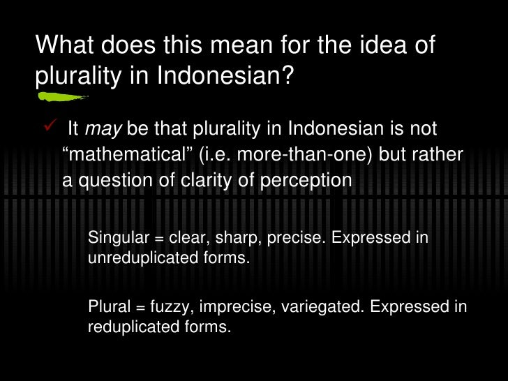 The plural in Indonesian