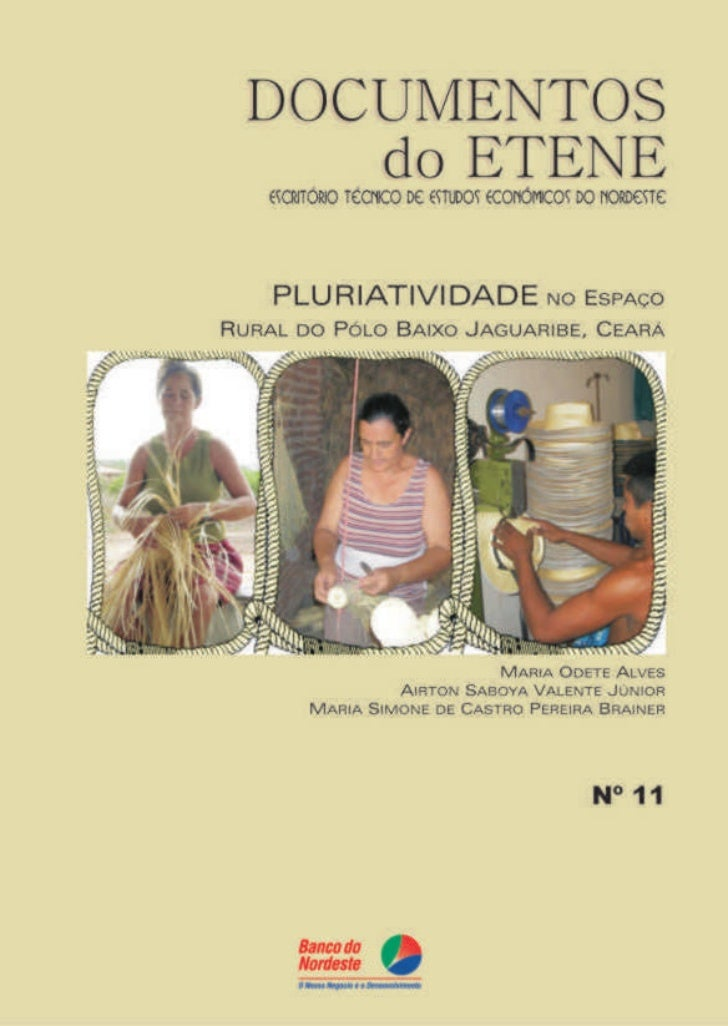 PLURIATIVIDADE NO ESPAÇOPLURIATIVIDADE  URIATIVID       ESPAÇO  RURAL DO PÓLO BAIXO    JAGUARIBE, CEARÁ