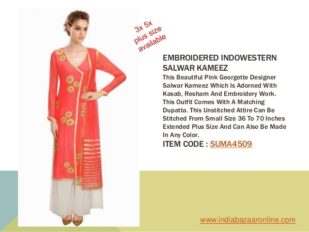 3x 5x Plus Size Indo Western Designer Dresses For Plus Size Women