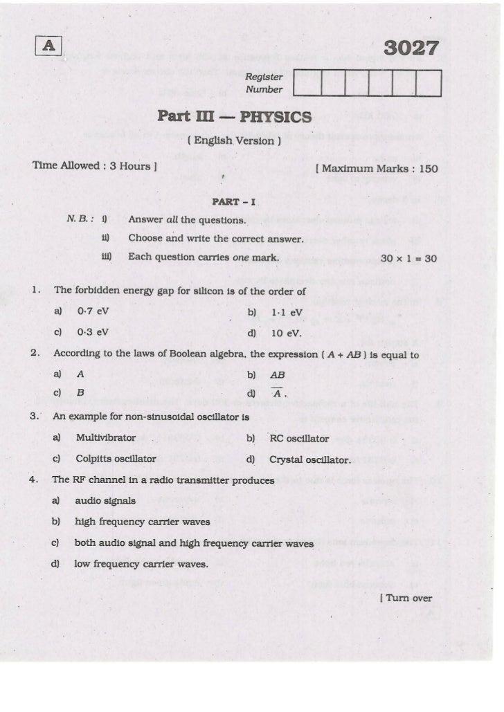 Plus2 physics-march-2009 (English)