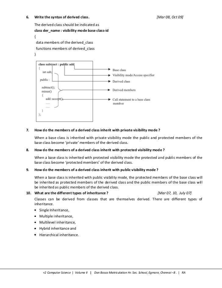 2 Computer Science - Volume II Notes