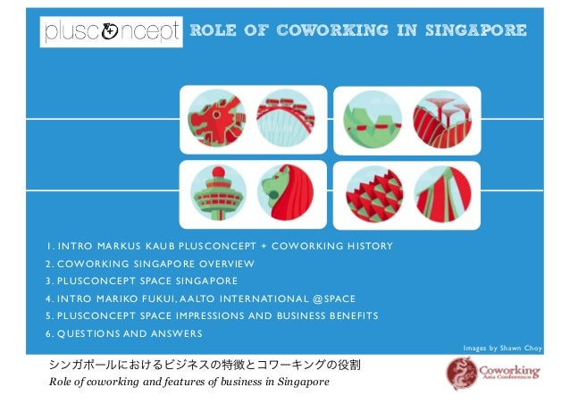 ROLE OF COWORKING IN SINGAPORE シンガポールにおけるビジネスの特徴とコワーキングの役割 Role of coworking and features of business in Singapore Images ...