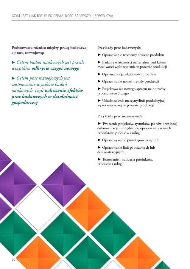 30 Podstawowa różnica między pracą badawczą a pracą rozwojową: ► Celem badań naukowych jest przede wszystkim odkrycie czeg...