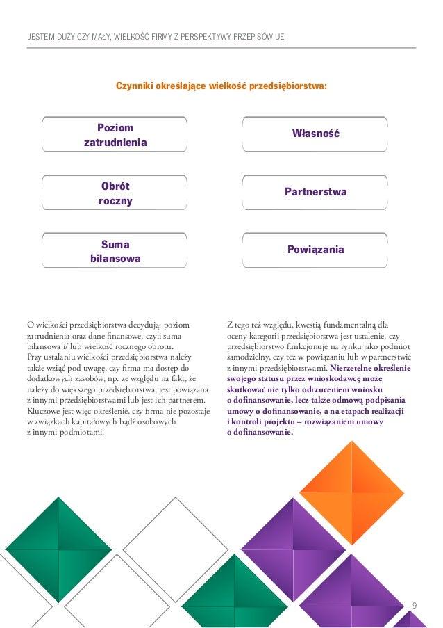 9 Czynniki określające wielkość przedsiębiorstwa: O wielkości przedsiębiorstwa decydują: poziom zatrudnienia oraz dane fin...