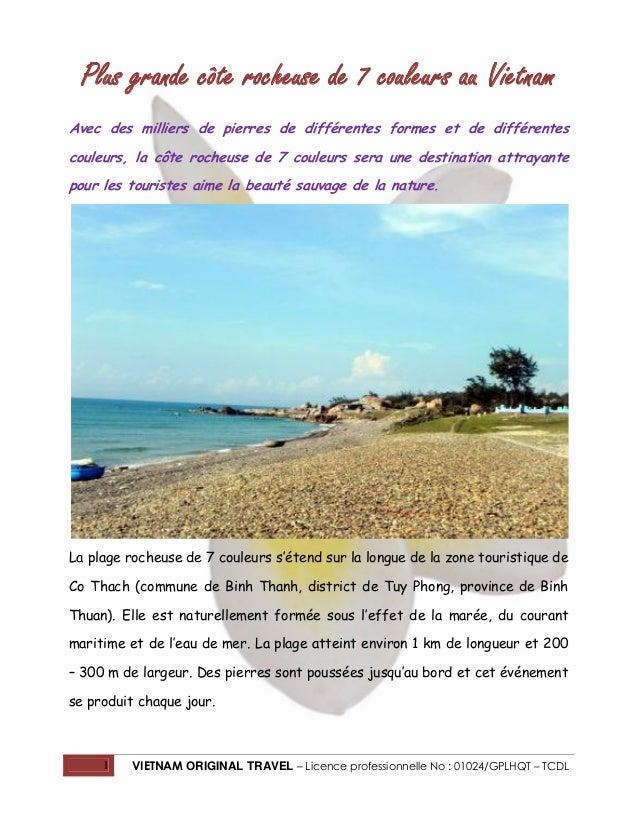 Plus grande côte rocheuse de 7 couleurs au Vietnam Avec des milliers de pierres de différentes formes et de différentes co...