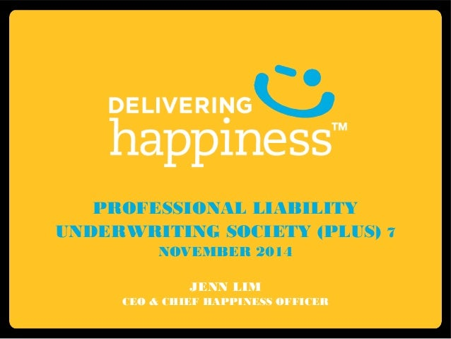 Plus - Jenn Lim - Delivering Happiness