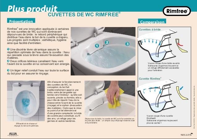 Innovation rimfree la cuvette sans bride par allia salle for Changer une cuvette de wc