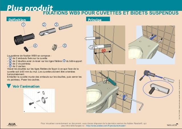 fixations wb5 pour cuvettes et bidets au sol par allia. Black Bedroom Furniture Sets. Home Design Ideas