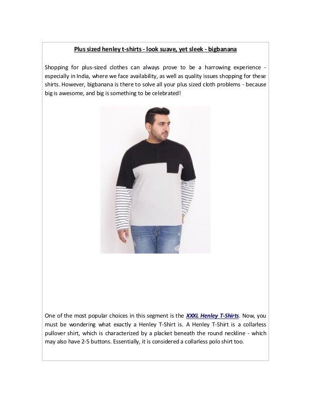 447177d9f8b63 Plus sized henley t shirts online india - bigbanana