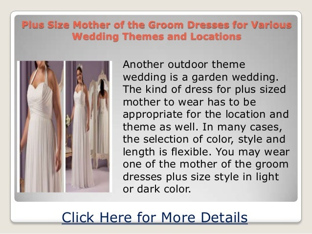Plus Size Mother Of The Groom Dresses For