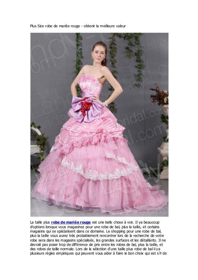 Plus Size robe de mariée rouge - obtenir la meilleure valeurLa taille plus robe de marié e rouge est une belle chose à voi...