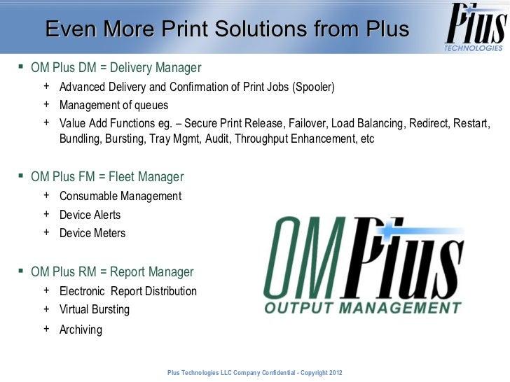 Plus Technologies LLC Company Confidential