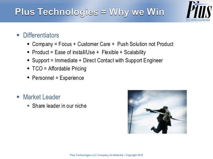 <ul><ul><li>Differentiators  </li></ul></ul><ul><ul><ul><li>Company = Focus + Customer Care +  Push Solution not Product <...