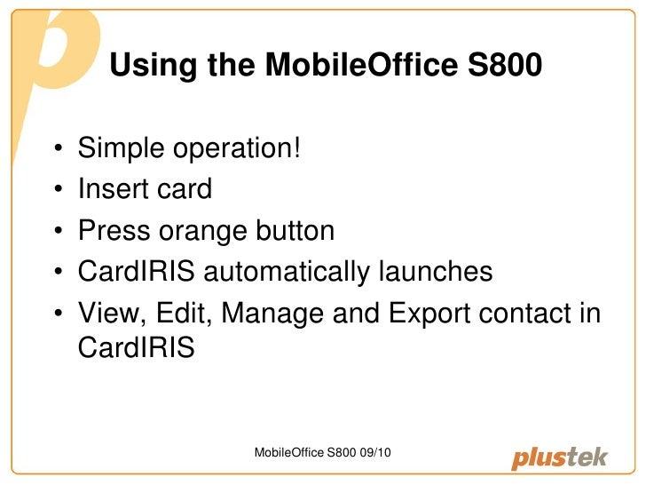 Plustek mobileoffice s800 business card scanner reheart Choice Image