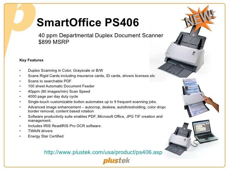 DRIVER FOR PLUSTEK SMARTOFFICE PS406