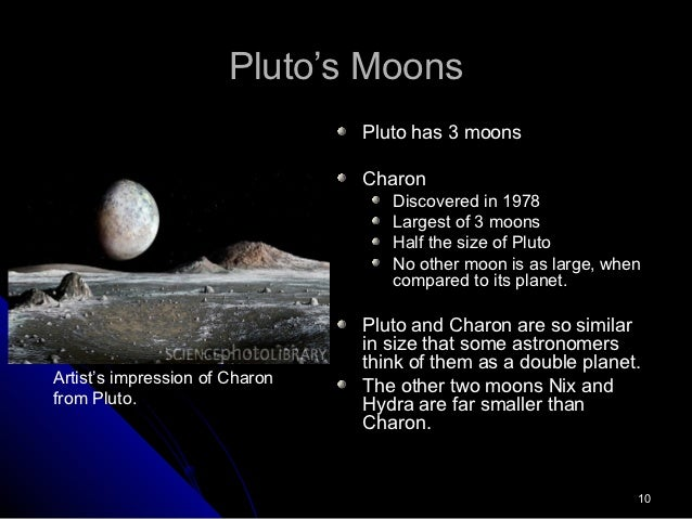 Pluto Moons Nix And Hydra S: Pluto The Dwarf Planet