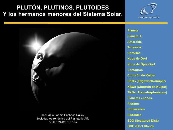 Pluton plutinos y plutoides