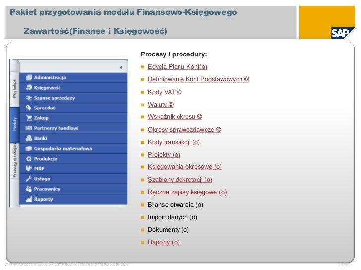 Pakiet przygotowania modułu Finansowo-Księgowego        Zawartość(Finanse i Księgowość)                                   ...
