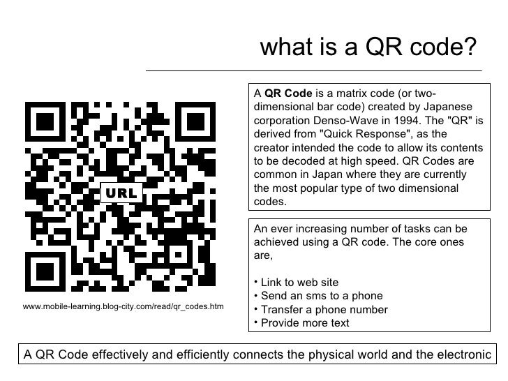 what is a QR code? A  QR Code  is a matrix code (or two-dimensional bar code) created by Japanese corporation Denso-Wave i...