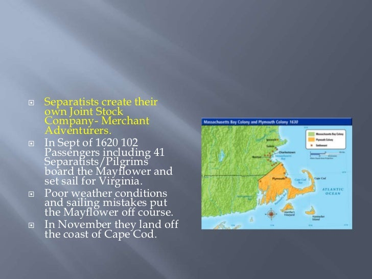 the journey and new start at the plymouth colony of the puritans So when they decided to start new congregations and young william bradford began to plan the journey disease now ravaged the small plymouth colony.