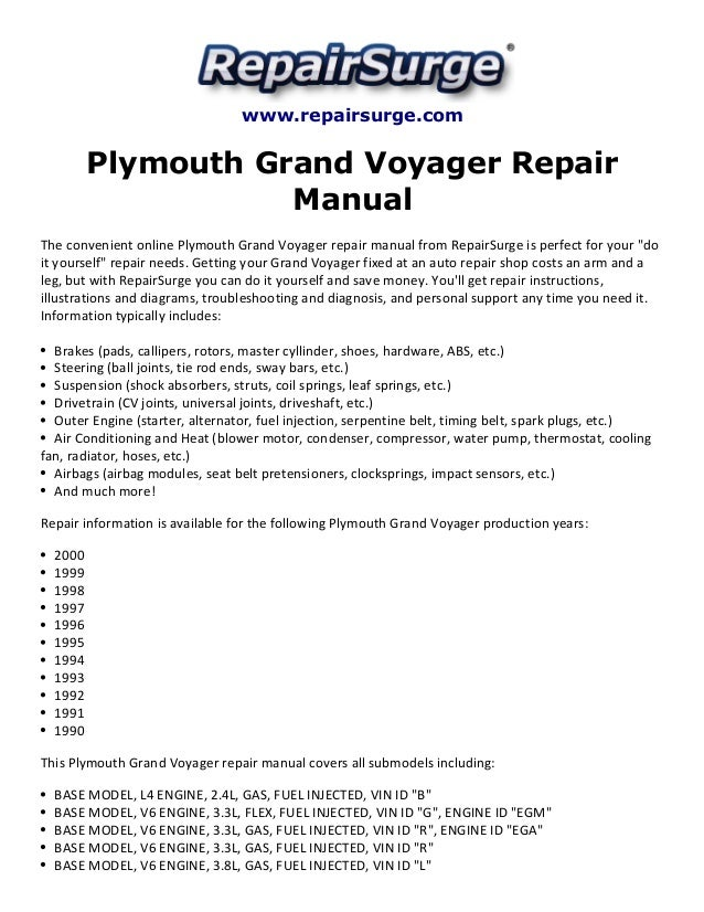 1998 Plymouth Voyager Fuse Box Diagram Trusted Wiring Diagram