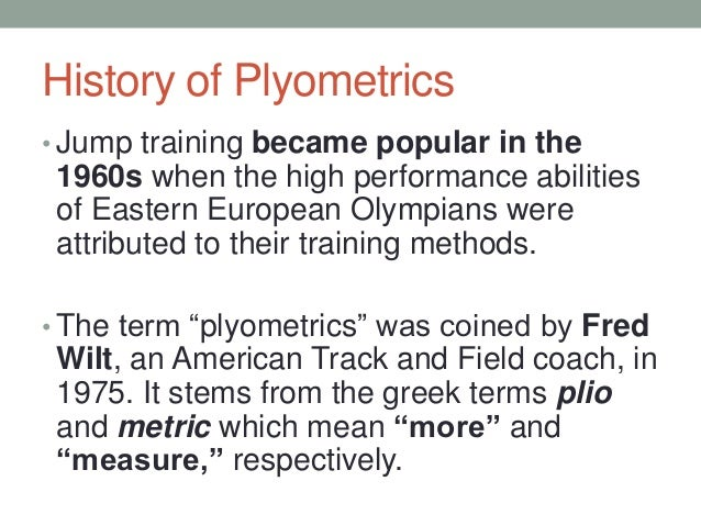 review on plyometric training Review of related literature the purpose of this review study was to give a literature plyometric training and maintenance training on physical performances in.