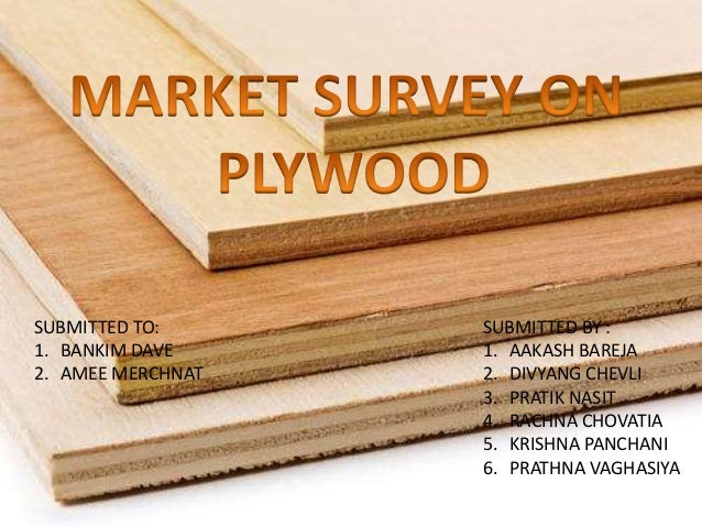 Market Survey On Plywood