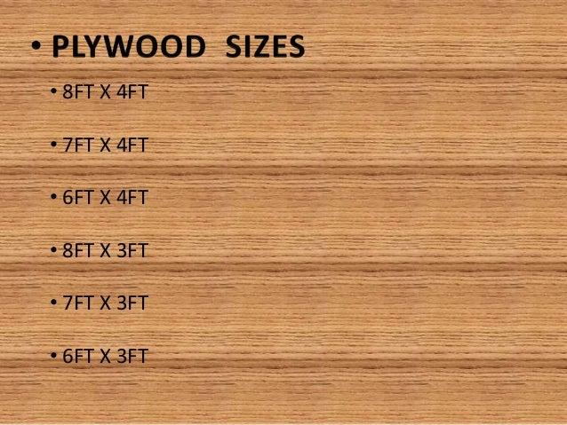 Plywood Sheet Size