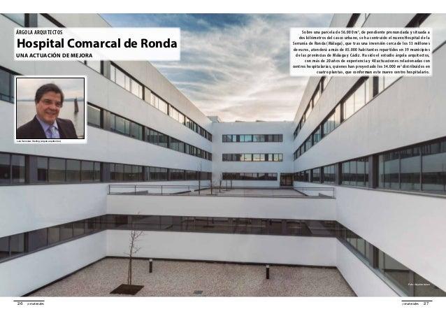 27promateriales26 promateriales árgola arquitectos Hospital Comarcal de Ronda Una actuación de mejora Sobre una parcela de...