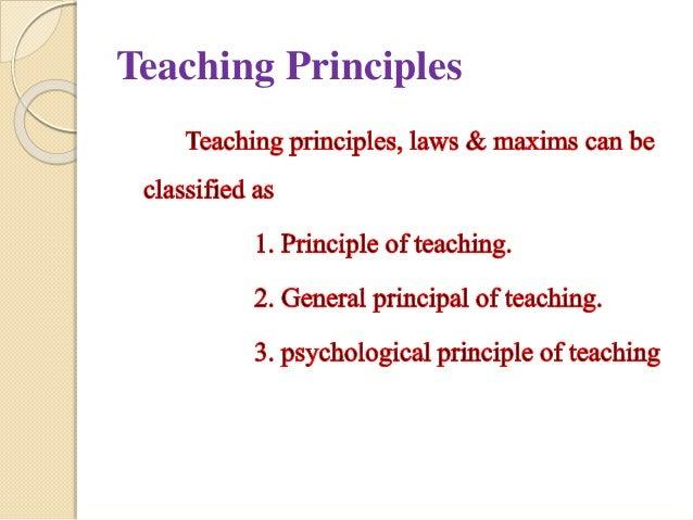 principle & maximum of teaching Slide 2