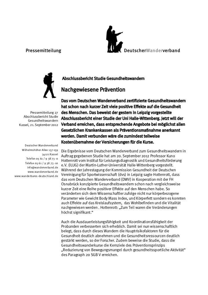 Pressemitteilung                                                  DeutscherWanderverband       Pressemitteilung           ...