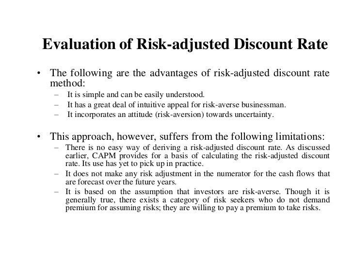 risk adjusted discount rate Business management,portfolio management,swaps,risk element,variance analysis,professional management education,emh,pricing,risk.