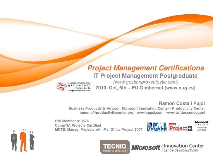 Project Management Certifications                      IT Project Management Postgraduate                               (w...