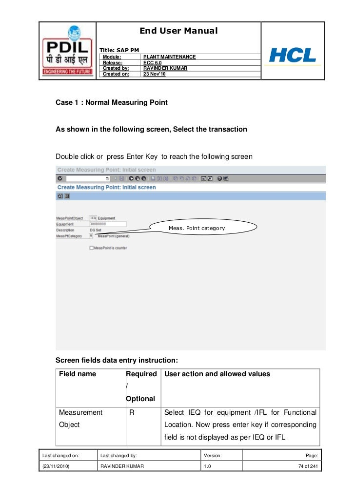 pm end user manual rh slideshare net SAP R 3 Modules SAP Releases