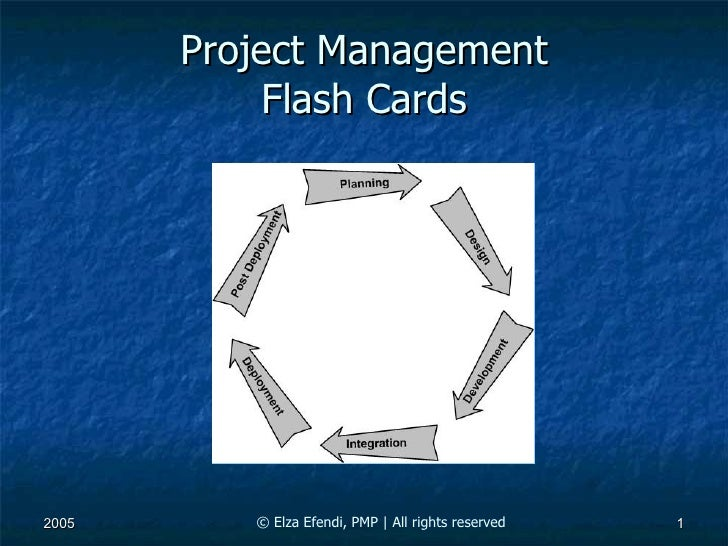 Project Management Flash Cards © Elza Efendi , PMP |  All rights reserved