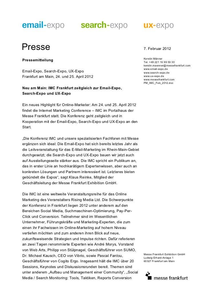 Presse                                                                  7. Februar 2012                                   ...