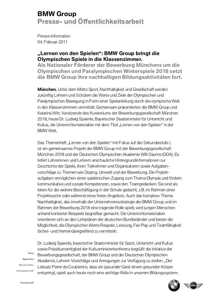 BMW Group                     Presse- und Öffen                                 Öffentlichkeitsarbeit                     ...