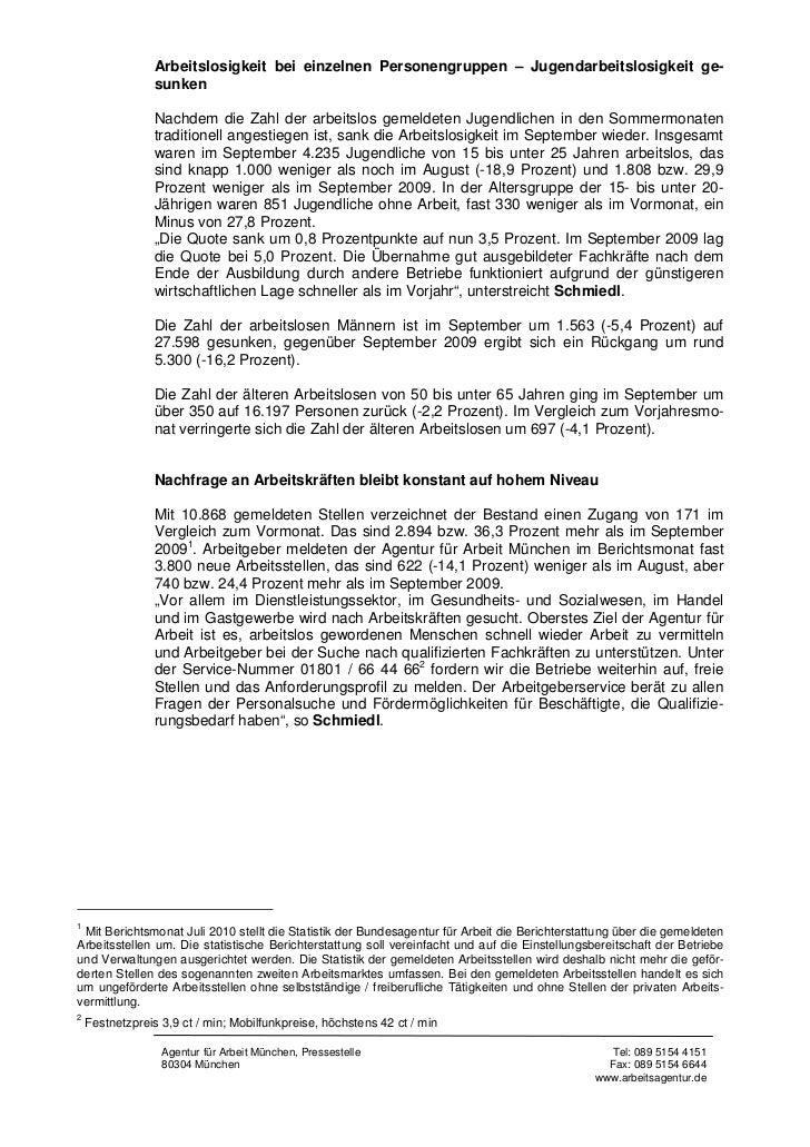 PM-Nr  52 - Arbeitsmarktbericht September 2010.pdf Slide 2
